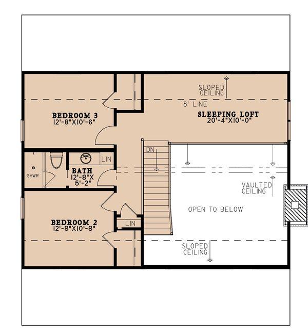 Country Floor Plan - Upper Floor Plan #923-207