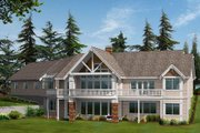Craftsman Style House Plan - 2 Beds 2.5 Baths 2195 Sq/Ft Plan #132-104 Exterior - Rear Elevation