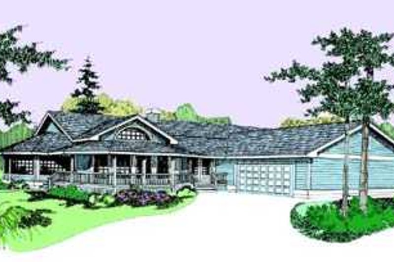 Traditional Exterior - Front Elevation Plan #60-492 - Houseplans.com