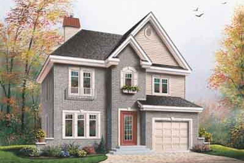 Architectural House Design - European Exterior - Front Elevation Plan #23-664