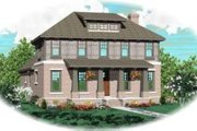 Bungalow Style House Plan - 4 Beds 4 Baths 2881 Sq/Ft Plan #81-955 Exterior - Front Elevation