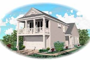 Southern Exterior - Front Elevation Plan #81-111