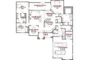 Bungalow Style House Plan - 3 Beds 3.5 Baths 2910 Sq/Ft Plan #63-225 Floor Plan - Main Floor Plan