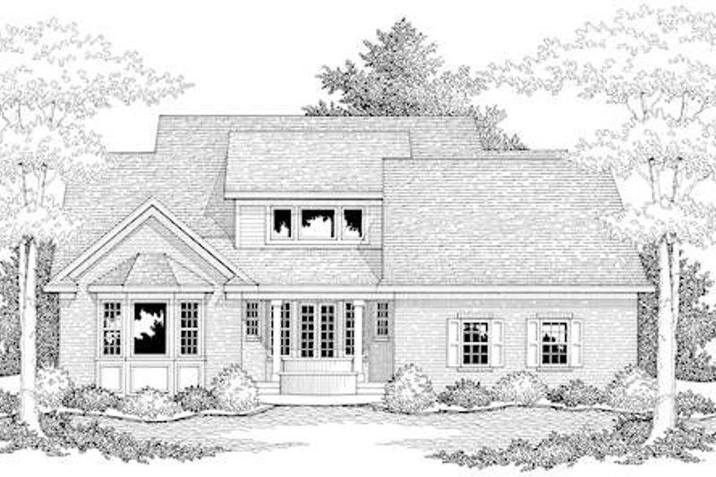 Traditional Exterior - Rear Elevation Plan #51-352 - Houseplans.com
