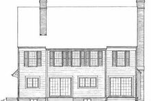 Southern Exterior - Rear Elevation Plan #72-358