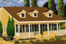 House Plan Design - Farmhouse Exterior - Front Elevation Plan #3-108