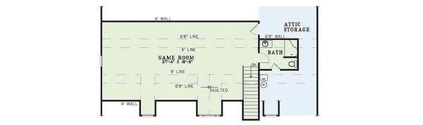 Farmhouse Floor Plan - Upper Floor Plan Plan #17-415