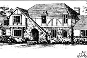 European Exterior - Front Elevation Plan #10-260