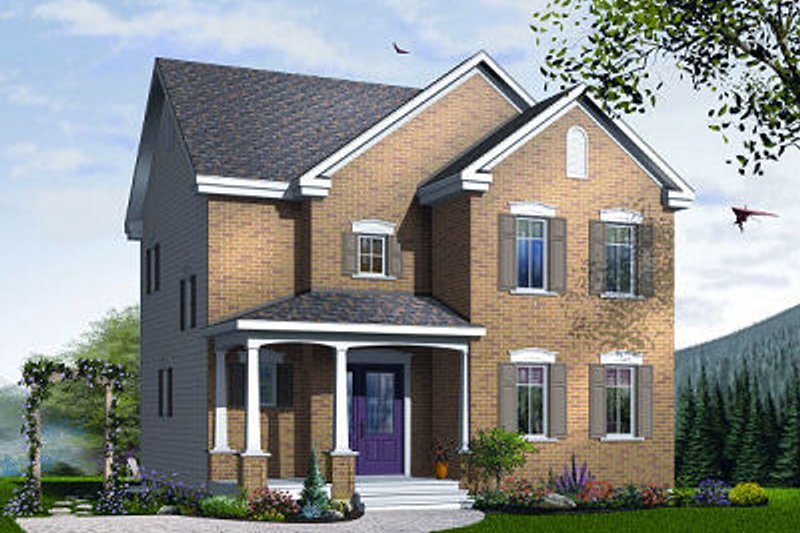 Dream House Plan - Traditional Exterior - Front Elevation Plan #23-737