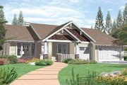 Craftsman Style House Plan - 4 Beds 2.5 Baths 1997 Sq/Ft Plan #48-167 Exterior - Front Elevation
