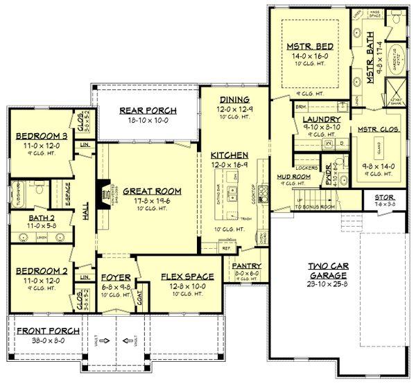 Country Floor Plan - Main Floor Plan Plan #430-176