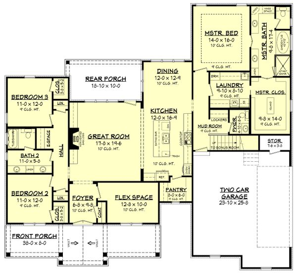 Country Floor Plan - Main Floor Plan Plan #430-176