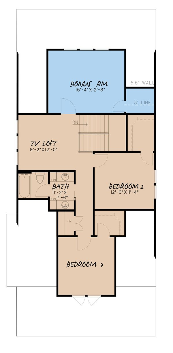 Country Floor Plan - Upper Floor Plan #923-149