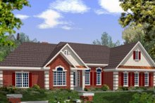 Dream House Plan - Southern Exterior - Front Elevation Plan #56-168