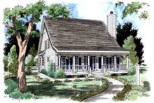 Country Exterior - Front Elevation Plan #37-161