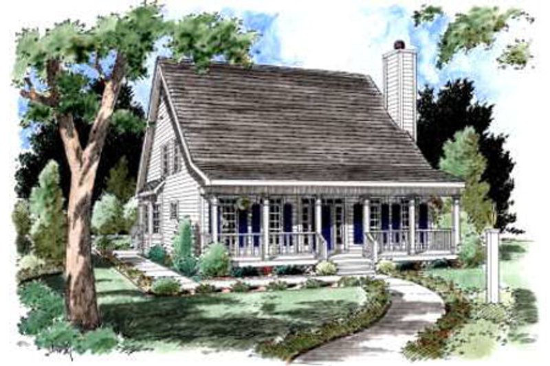 Country Exterior - Front Elevation Plan #37-161 - Houseplans.com