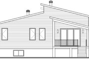 Modern Style House Plan - 2 Beds 1 Baths 1421 Sq/Ft Plan #23-2722 Exterior - Rear Elevation