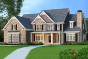 Traditional Style House Plan - 5 Beds 4.5 Baths 4083 Sq/Ft Plan #419-174 Exterior - Front Elevation