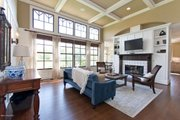Country Style House Plan - 3 Beds 2.5 Baths 2986 Sq/Ft Plan #901-112 Interior - Family Room