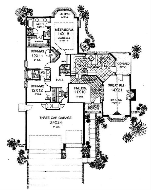 Traditional Floor Plan - Main Floor Plan #310-910
