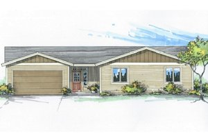 Craftsman Exterior - Front Elevation Plan #53-529