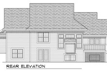 Dream House Plan - Traditional Exterior - Rear Elevation Plan #70-775