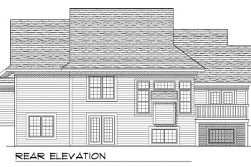 Traditional Exterior - Rear Elevation Plan #70-775 - Houseplans.com