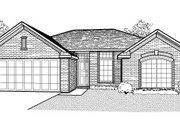 European Style House Plan - 4 Beds 2 Baths 1829 Sq/Ft Plan #65-345 Exterior - Front Elevation