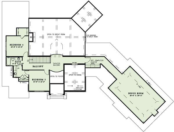European Floor Plan - Upper Floor Plan Plan #17-2498