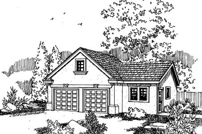 Mediterranean Style House Plan - 0 Beds 0 Baths 816 Sq/Ft Plan #124-654