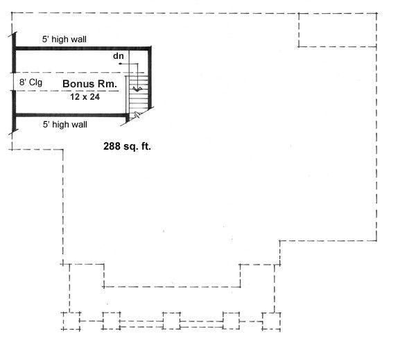 Craftsman Floor Plan - Upper Floor Plan Plan #51-514