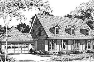 Country Exterior - Front Elevation Plan #14-206
