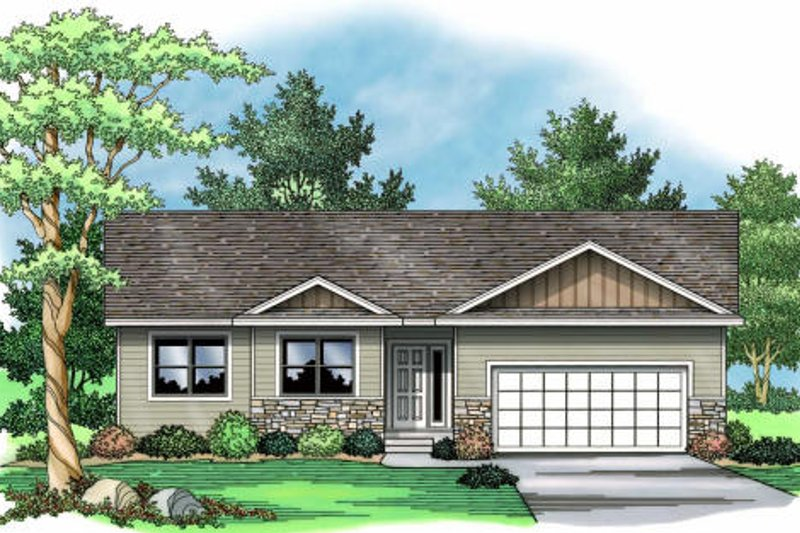 Traditional Exterior - Front Elevation Plan #51-373 - Houseplans.com