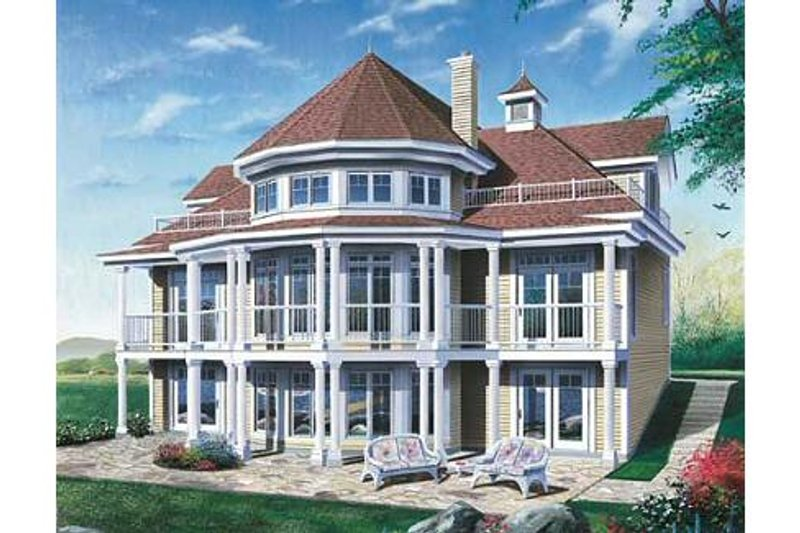 Traditional Style House Plan - 4 Beds 2 Baths 2348 Sq/Ft Plan #23-415 Exterior - Front Elevation