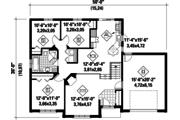 European Style House Plan - 3 Beds 1 Baths 1172 Sq/Ft Plan #25-4648 Floor Plan - Main Floor Plan