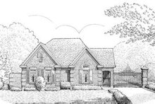 Dream House Plan - European Exterior - Front Elevation Plan #410-376
