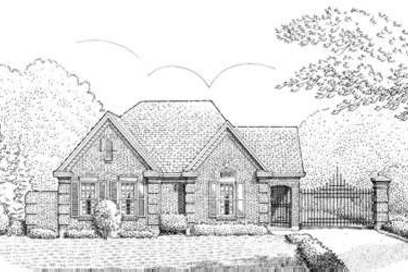 European Exterior - Front Elevation Plan #410-376