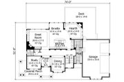 House Plan - 4 Beds 3.5 Baths 3883 Sq/Ft Plan #51-544 Floor Plan - Main Floor Plan