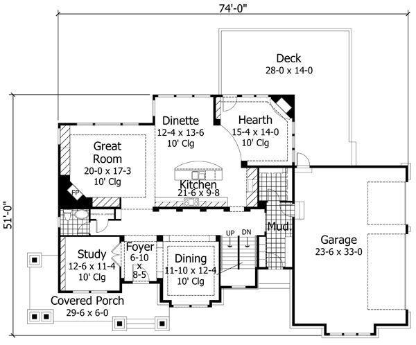 Floor Plan - Main Floor Plan Plan #51-544