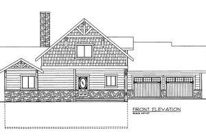 Bungalow Exterior - Front Elevation Plan #117-670