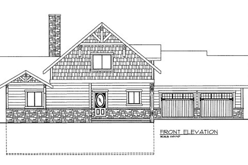 Bungalow Style House Plan - 3 Beds 3.5 Baths 1824 Sq/Ft Plan #117-670 Exterior - Front Elevation