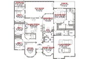 Traditional Style House Plan - 4 Beds 3.5 Baths 3372 Sq/Ft Plan #63-233 Floor Plan - Main Floor Plan