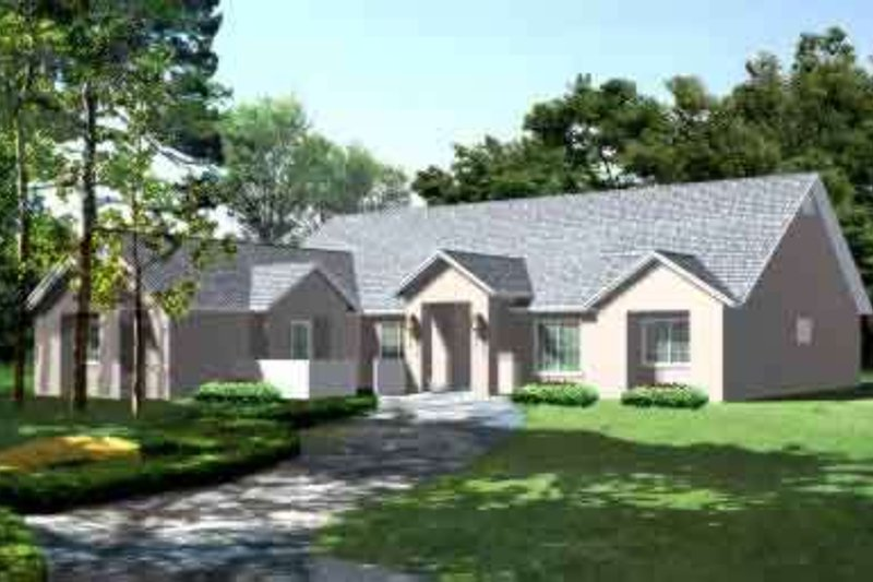 European Style House Plan - 3 Beds 2.5 Baths 2087 Sq/Ft Plan #1-1427 Exterior - Front Elevation