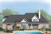 European Style House Plan - 3 Beds 2 Baths 1488 Sq/Ft Plan #929-55 Exterior - Rear Elevation