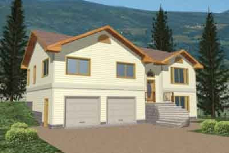 Traditional Style House Plan - 3 Beds 3 Baths 2046 Sq/Ft Plan #117-205 Exterior - Front Elevation