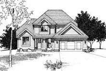 Traditional Exterior - Front Elevation Plan #20-540