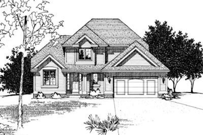 Traditional Exterior - Front Elevation Plan #20-540 - Houseplans.com