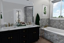 Ranch Interior - Master Bathroom Plan #1060-40