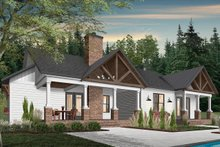 Farmhouse Exterior - Rear Elevation Plan #23-2689