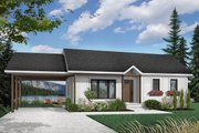 Modern Style House Plan - 2 Beds 1 Baths 947 Sq/Ft Plan #23-107 Exterior - Front Elevation